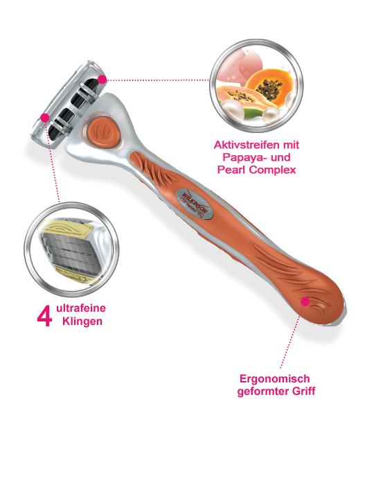 Wilkinson Sword Quattro for Women razor with blades