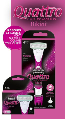 Wilkinson Sword Quattro Bikini razor with blades