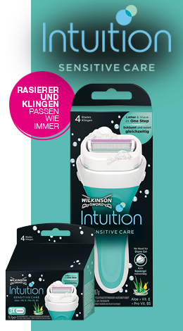 Wilkinson Sword Intuition razor with blades