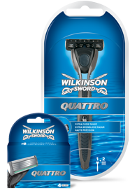 Wilkinson Sword Quattro razor with blades