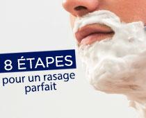 8 étapes Pour un rasage parfait
