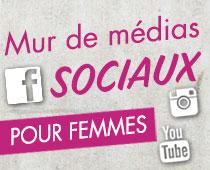 Mur de médias sociaux pour femmes