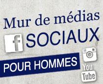 Mur de médias sociaux pour hommes