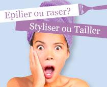 Epilier ou raser? Tailler ou peigner?